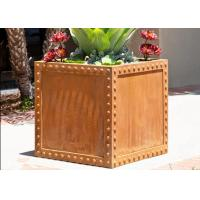 China Commercial Corten Steel Planter Pots For Yard / Garden Corrosion Stability on sale