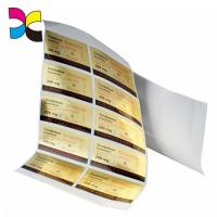 China Personalized Gel Adhesive Sticker Labels Freeze Resistant Sheet Packaging wholesale