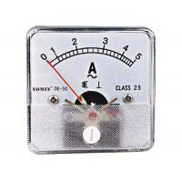China Class 2.5 80 Size Dc Voltage Meter ,  Analog Moving Iron Ammeter AC wholesale
