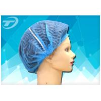 China Colorful PP Nonwoven Clip Disposable Surgical Caps double elastic  for Cleanroom Lab on sale