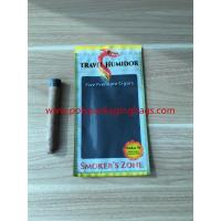 Re - Sealable Zipper Moisturizing Cigar Humidor Bags With Printed Logo for sale
