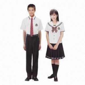 China Elegant school uniforms, comfortable shirts, junior/senior/high school uniforms/wear/clothing wholesale