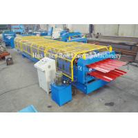 China Forming Speed 8-12m/min Double Layer Roof Forming Machine Shaft Diameter 76mm wholesale