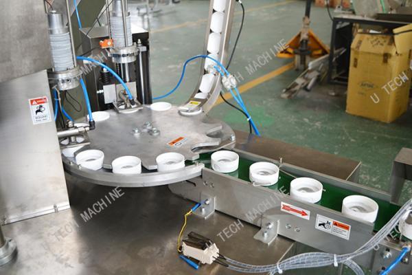 Quality Bottle Cap Lining Machine / Cut Insert Sealing Aluminum Foil Lining Machine for sale