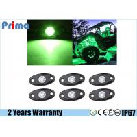 China Green LED Rock Lights 6 Pods LED Light Lamp for Interior Exterior Under Off Road Truck Jeep ATV SUV Jeep 4x4 Boat 4wd wholesale
