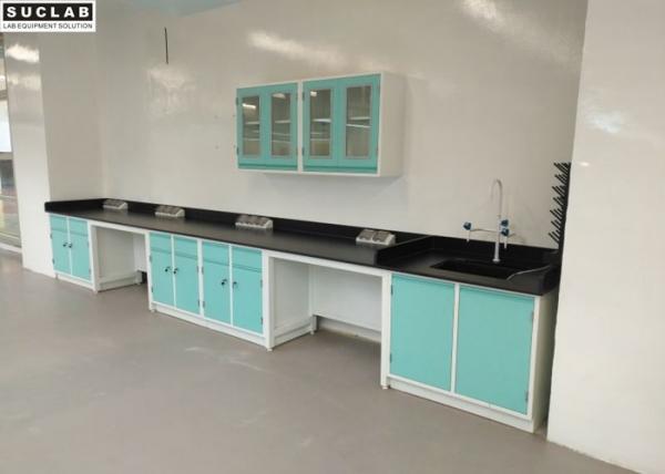 Quality Hospital Chemical Steel Lab Furniture Acid Alkali Resistant Benchtops for sale