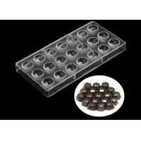 Transparent Plastic Silicone Chocolate Molds , Pudding Silicone Jelly Moulds