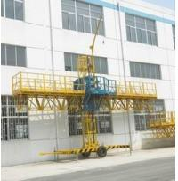 China 1000kg Loaded Steel Construction Lifting Platform, Single-Mast Climbing Working Gondola 8m on sale