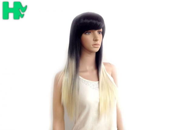 Quality Girls Straight Synthetic Hair Wigs Ombre Color 18inch - 20inch for sale