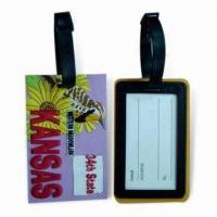 China Soft PVC Luggage Tags, Suitable for Sales Promotional wholesale