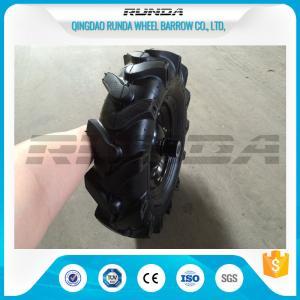 China Black Heavy Duty Rubber Wheels Steel Hub , Swivel Trolley Wheels150-300kg Loading wholesale