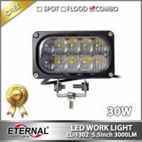 China 30W led work light 5x2 rectangle driving headlight spot flood in one for offroad 4x4 truck tractor trailer working lamp wholesale