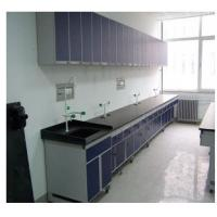 China Dental Laboratory Furniture Black Lab Tables With Wall Hanging Cabinet 600*300*600mm wholesale