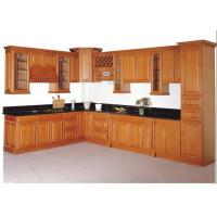 China Solid Wood Contemporary Kitchen Cabinets Paint Finish Luxury Furniture wholesale