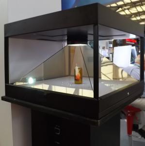 Buy cheap 100X100 120X120 faz sob medida a caixa de exposição 3D holográfica usada no telefone celular from wholesalers