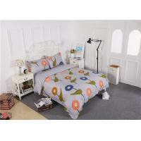 China Modern Long - Staple Cotton Bedding Sets Embroidery Flowers / Home Furnishing Textiles wholesale