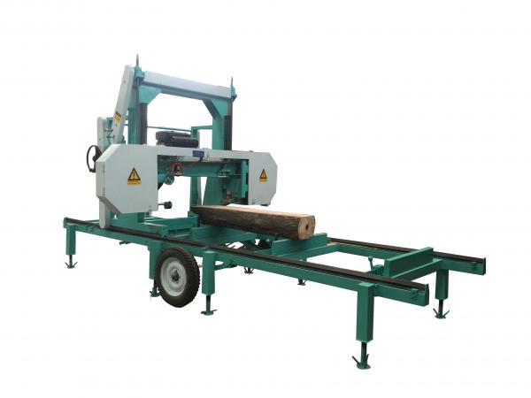Quality Diesel Horizontal Portable Band Saw Machine For Cutting Tree Trunk for sale
