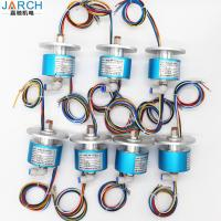 China Military Electro Pneumatic Rotary Union 6 Rings 5A Slip Rings Connect With Air Pipe 10mm wholesale