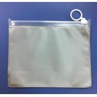 Silk printing Clear frosted travel use eva plastic bag for clothes with zipper