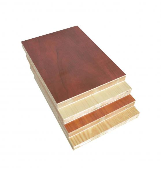 Quality Melamin Covered Laminated Block Board For Making Solid Core Flush Doors for sale