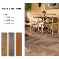 China Acid Resistant Wood Style Ceramic Floor Tiles 150x600 Mm Building Material wholesale