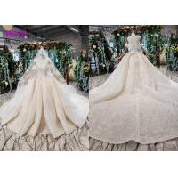 China High End Customize Off Shoulder Sequins Bridal Ball Gowns Vintage Luxury Wedding Dress wholesale
