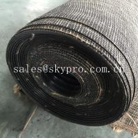 China Durable wide ribbed rubber safety mats with nylon mesh fabric reinforced on bottom wholesale