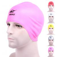 China Water Sports Pink Cool Swim Caps For Big Hair With Washable Eco Friendly wholesale