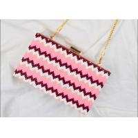 China Rectangular Shaped Party Clutch Purse With Point Wave Strip Front wholesale