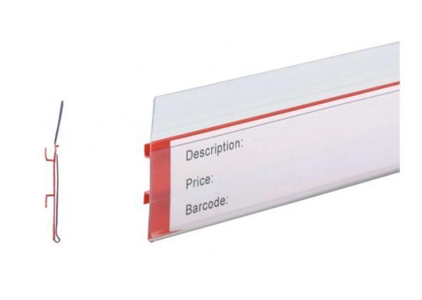 Black flexible label strip