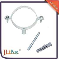 China Professional Cast Iron Pipe Clamps Set Electro Zinc Plated With Hanger Bolt wholesale