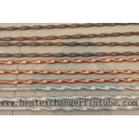 Buy cheap Twisted Stainless Steel , Finned Copper Tube With Higher Heat Transfer Coefficient from wholesalers
