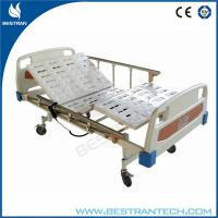 China Electro - Coating Electric Hospital Beds 4 - Part Steel , ABS Bedsides Rails wholesale