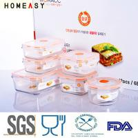 China Microwaveable Rectangular Glass Storage Containers For Food Water Tightness on sale