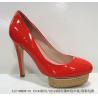 China Red Latest Fasion Pu Ladies Stiletto Platform High Heeled Shoes wholesale