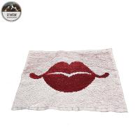 China White / Red Reverse Sequin Lip Patch , Double Sided Sequin Sew On Patches wholesale
