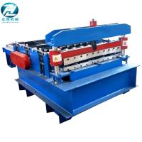 China Blue Automatic Cutting Machine With Leveling Rollers And Hydraulic Cutting Devices wholesale