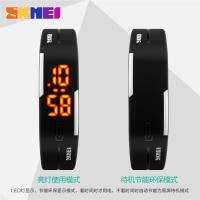 China Thin Digital Small Led Digital Watch Black 3 ATM Waterproof For Boys wholesale