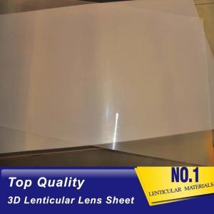 China Wholesale Thin Clear PET 100  lpi 3D Lenticular Foil Lens Sheets plastic 3d film matericals for 3d lenticular painting on sale