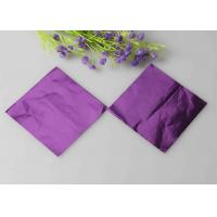 Embossed Chocolate Wrapping Paper Purple Aluminum Foil Wrapped Chocolate Hearts
