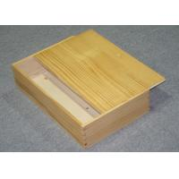 China Recycled Decorative Wooden Gift Boxes For Wine Bottles 263 X 98 X 415 mm wholesale
