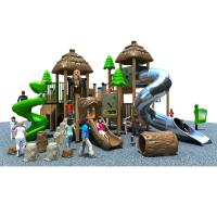 Dinosaur Theme Plastic Outdoor Play Equipment With Stainless Steel Slide for sale