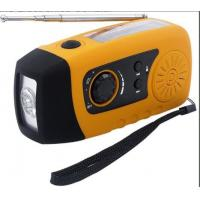 China Mini Solar Powered FM Radio with 3 bright white LED and USB Connectors wholesale