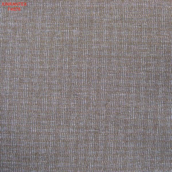 Quality F4076 100%P cationic fabric with two tone effect for sale