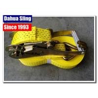 China Wire Hooks 50mm Ratchet Tie Down Straps With Heavy Working Load Rainproof wholesale