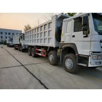 China HOWO 8x4 371hp Heavy Duty Dump Truck 12 Wheeler With ZF8098 Steering And HW19710 Transmission wholesale