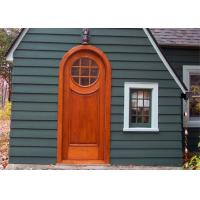 China Exterior Solid Wood Doors , Double Open Grill Main Solid Wood Front Entry Doors wholesale