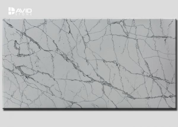 Quality Grey White Color Quartz Stone Slab SGS Passed For Kitchen Countertop for sale