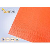 China Suntex High  Silicone Rubber Coated Fiberglass Fabric 2 Sides Coating Heat Resistant Material wholesale
