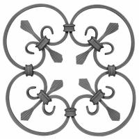China Wrought Iron Elements/ Ornaments/parts  for balusters and gates decorative --Groupware or wrought iron flowers wholesale